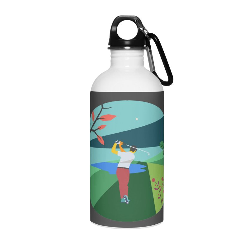 Golf Accessories Water Bottle by INK. ALPINA