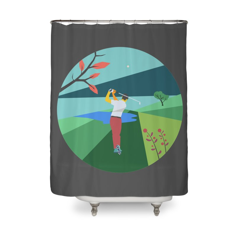 Golf Home Shower Curtain by INK. ALPINA