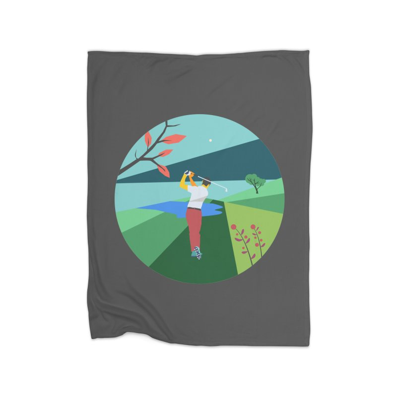 Golf Home Blanket by INK. ALPINA