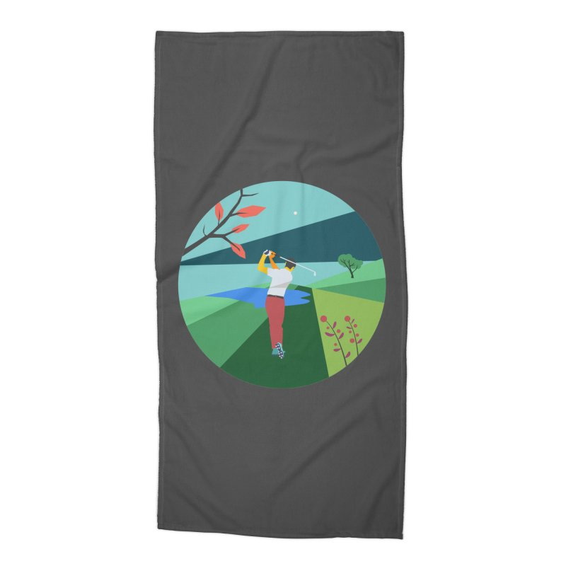 Golf Accessories Beach Towel by INK. ALPINA