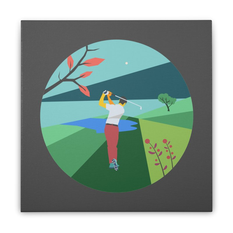 Golf Home Stretched Canvas by · STUDI X-LEE ·