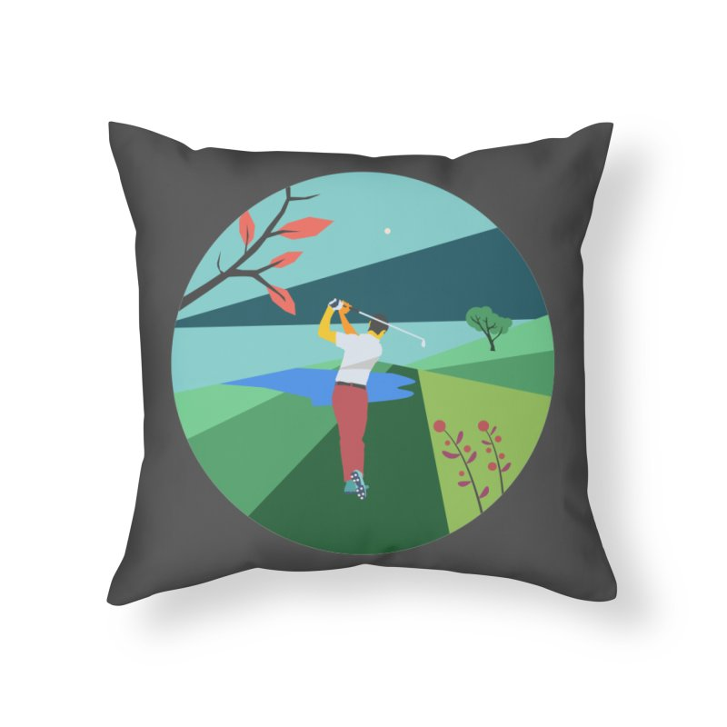Golf Home Throw Pillow by INK. ALPINA