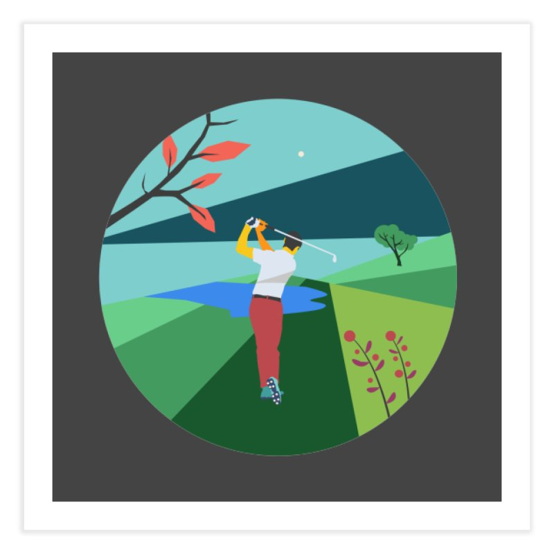 Golf Home Fine Art Print by INK. ALPINA