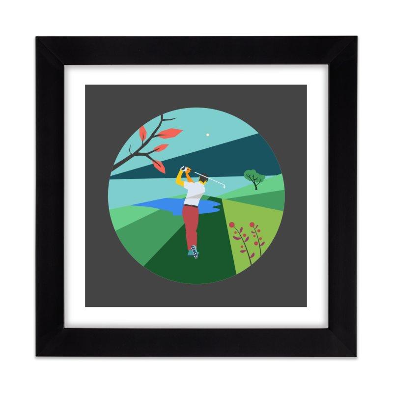 Golf Home Framed Fine Art Print by · STUDI X-LEE ·