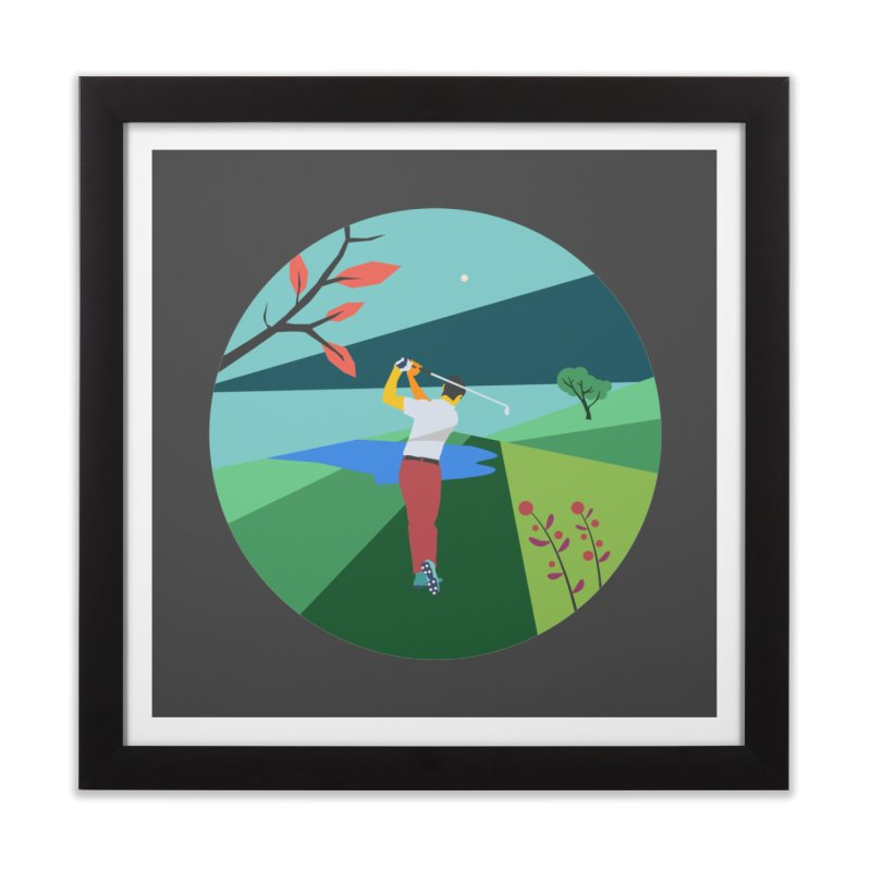 Golf Home Framed Fine Art Print by INK. ALPINA