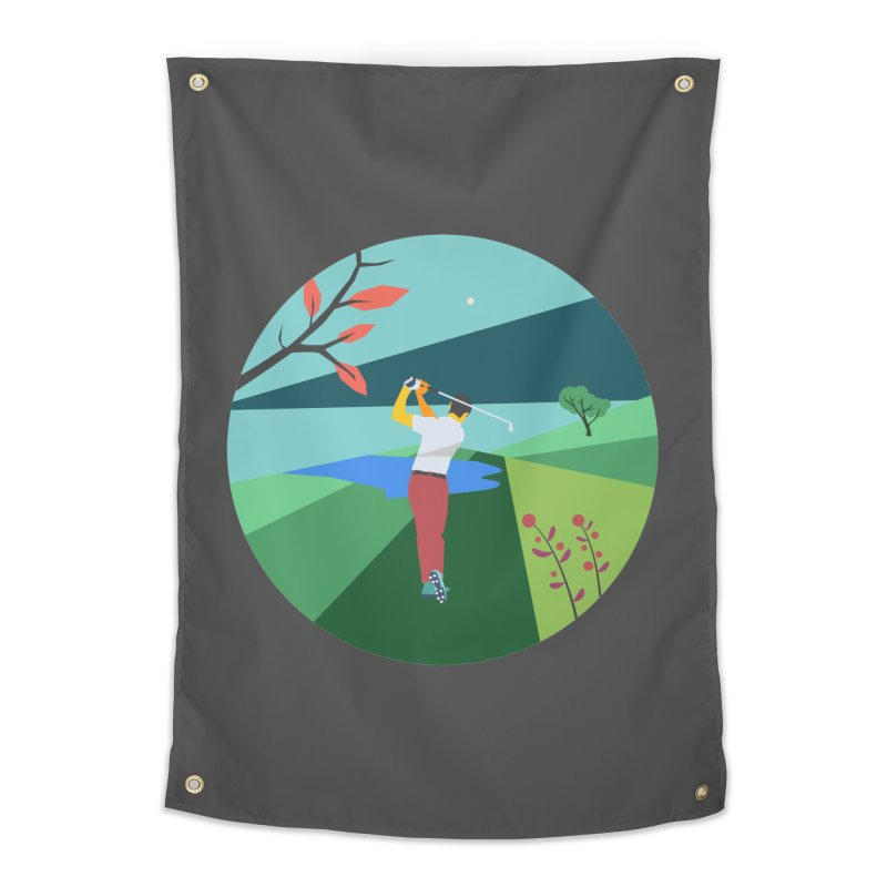 Golf Home Tapestry by INK. ALPINA