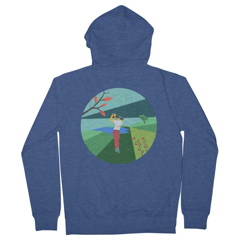 Golf Men's French Terry Zip-Up Hoody by INK. ALPINA