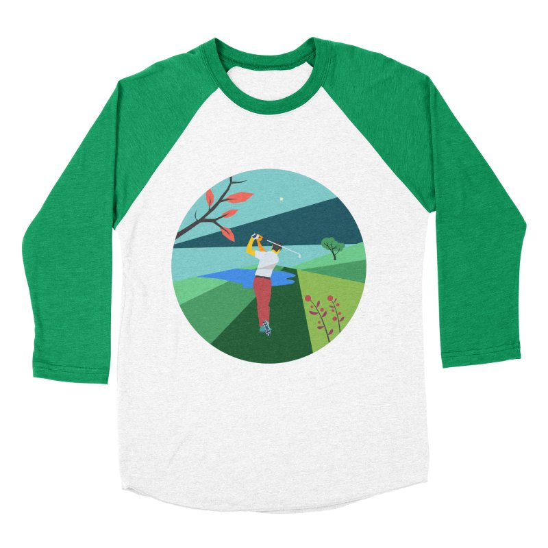 Golf Women's Baseball Triblend Longsleeve T-Shirt by · STUDI X-LEE ·
