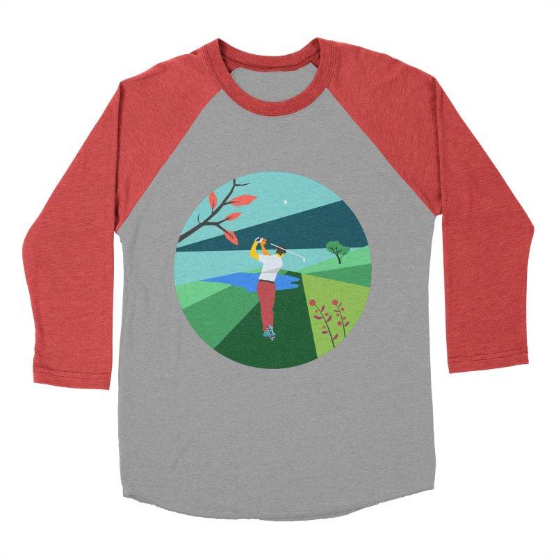 Golf Women's Baseball Triblend Longsleeve T-Shirt by INK. ALPINA