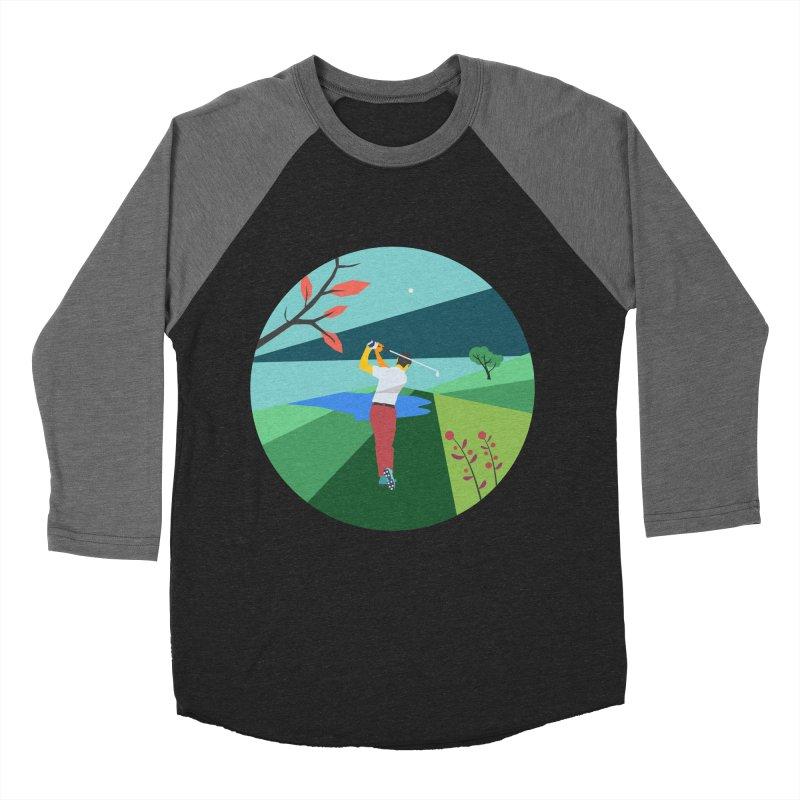 Golf Men's Baseball Triblend Longsleeve T-Shirt by INK. ALPINA