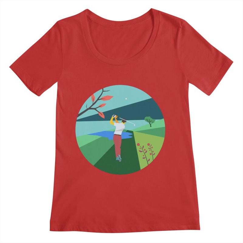 Golf Women's Regular Scoop Neck by · STUDI X-LEE ·