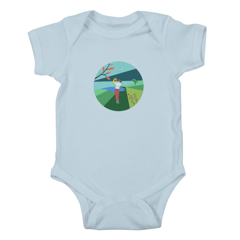 Golf Kids Baby Bodysuit by · STUDI X-LEE ·