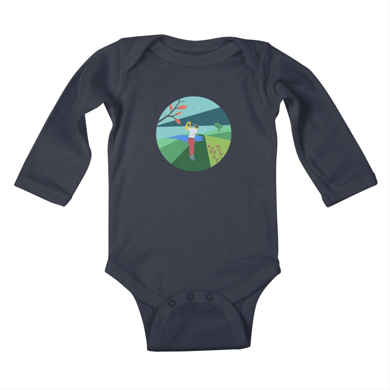 Golf Kids Baby Longsleeve Bodysuit by · STUDI X-LEE ·