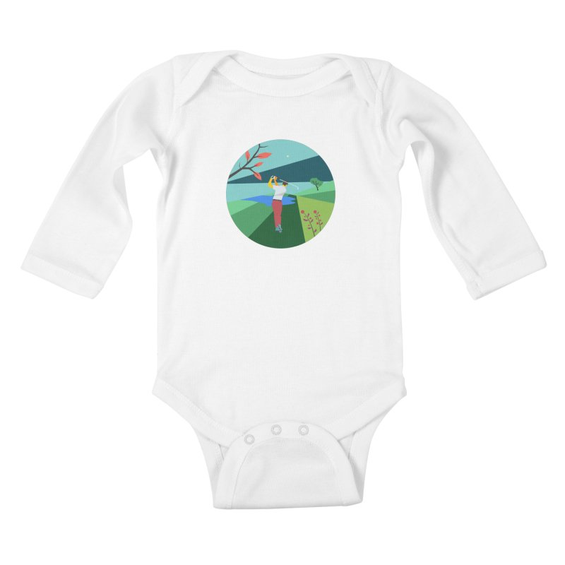 Golf Kids Baby Longsleeve Bodysuit by INK. ALPINA