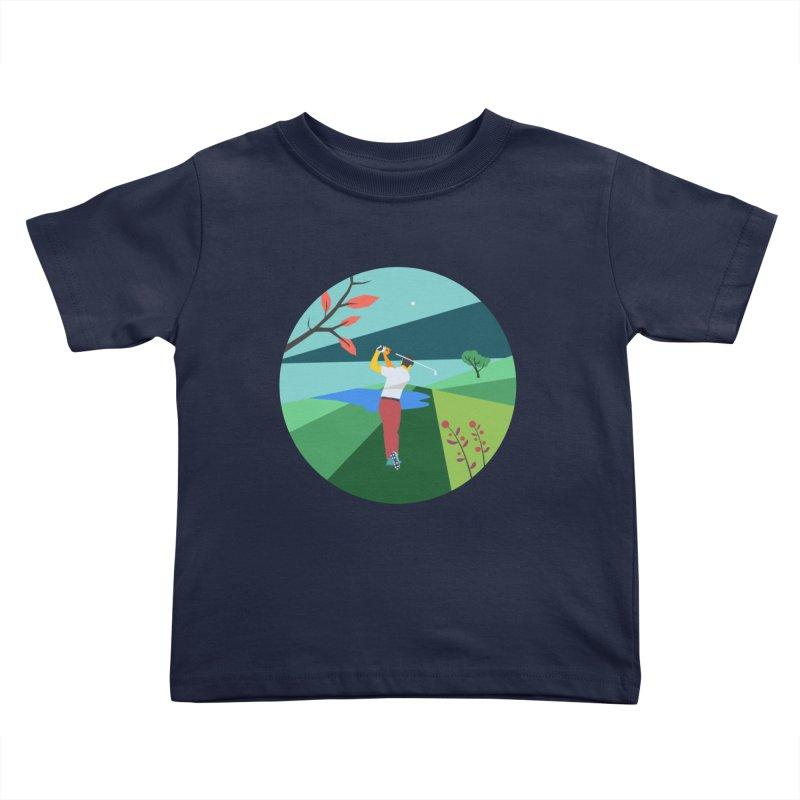 Golf Kids Toddler T-Shirt by INK. ALPINA