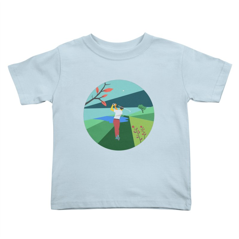 Golf Kids Toddler T-Shirt by INK. ALPINA