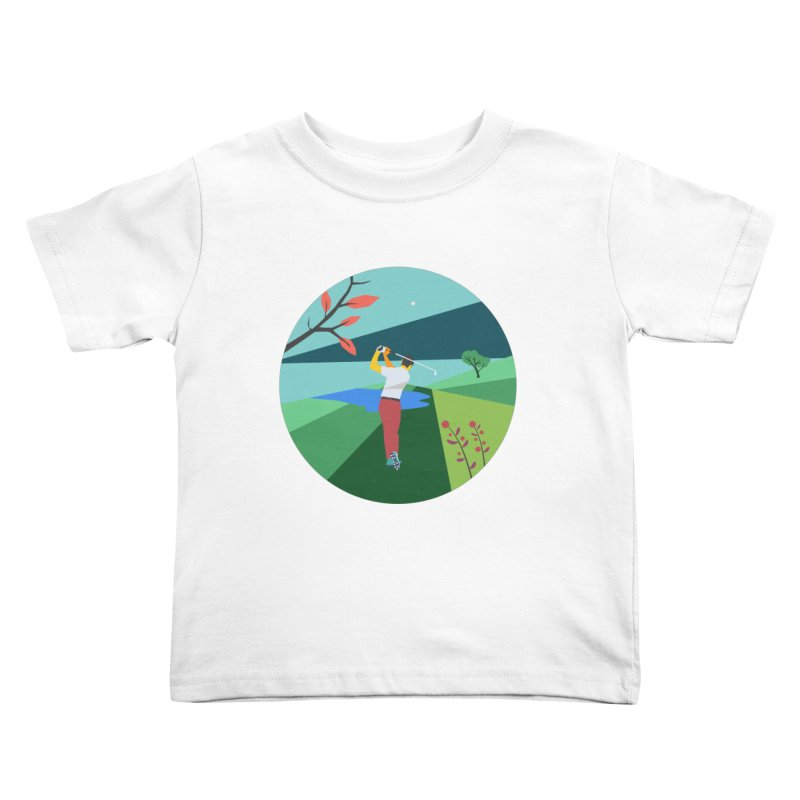 Golf Kids Toddler T-Shirt by · STUDI X-LEE ·