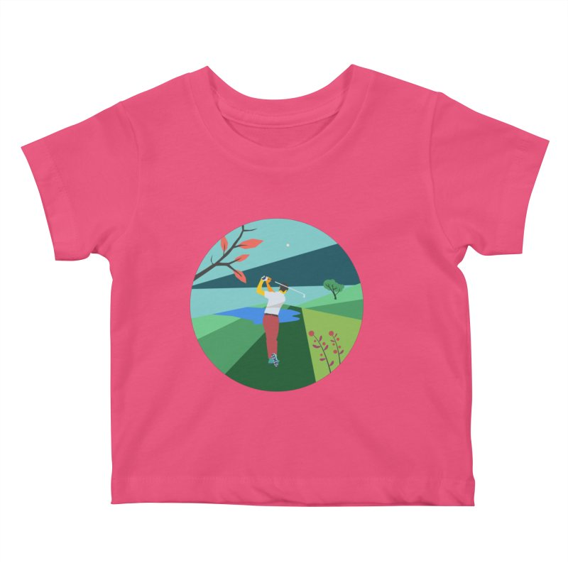 Golf Kids Baby T-Shirt by INK. ALPINA