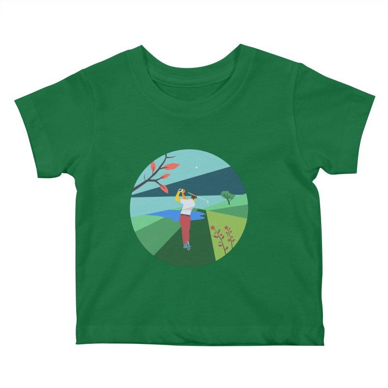 Golf Kids Baby T-Shirt by · STUDI X-LEE ·
