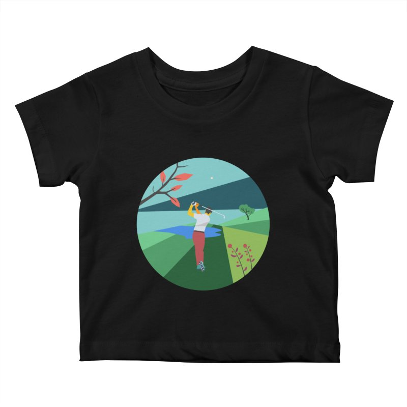 Golf Kids Baby T-Shirt by · STUDI X-LEE ·