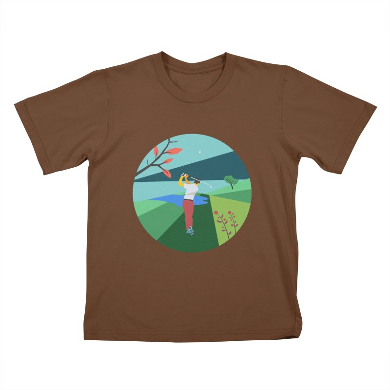 Golf Kids T-Shirt by INK. ALPINA