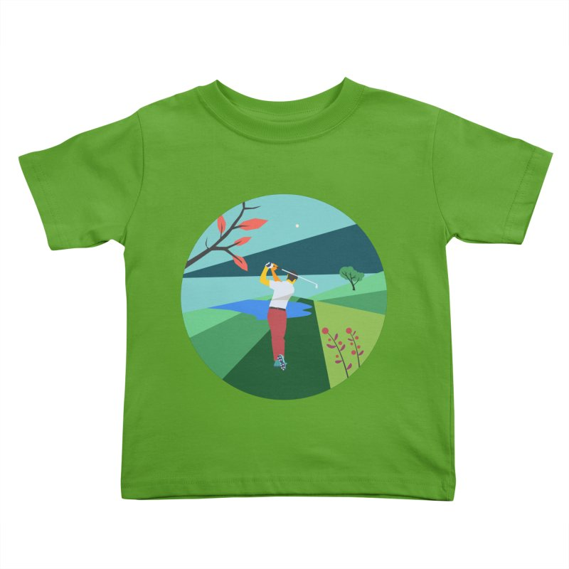 Golf Kids Toddler T-Shirt by · STUDI X-LEE ·