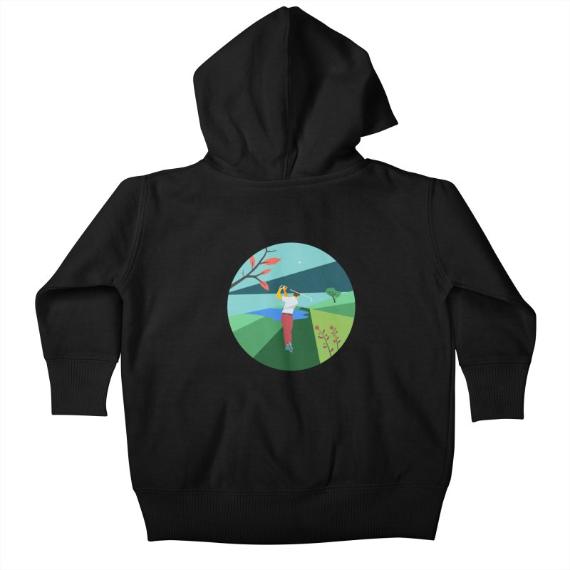Golf Kids Baby Zip-Up Hoody by INK. ALPINA