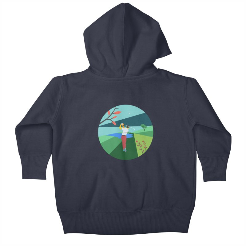 Golf Kids Baby Zip-Up Hoody by INK. ALPINA