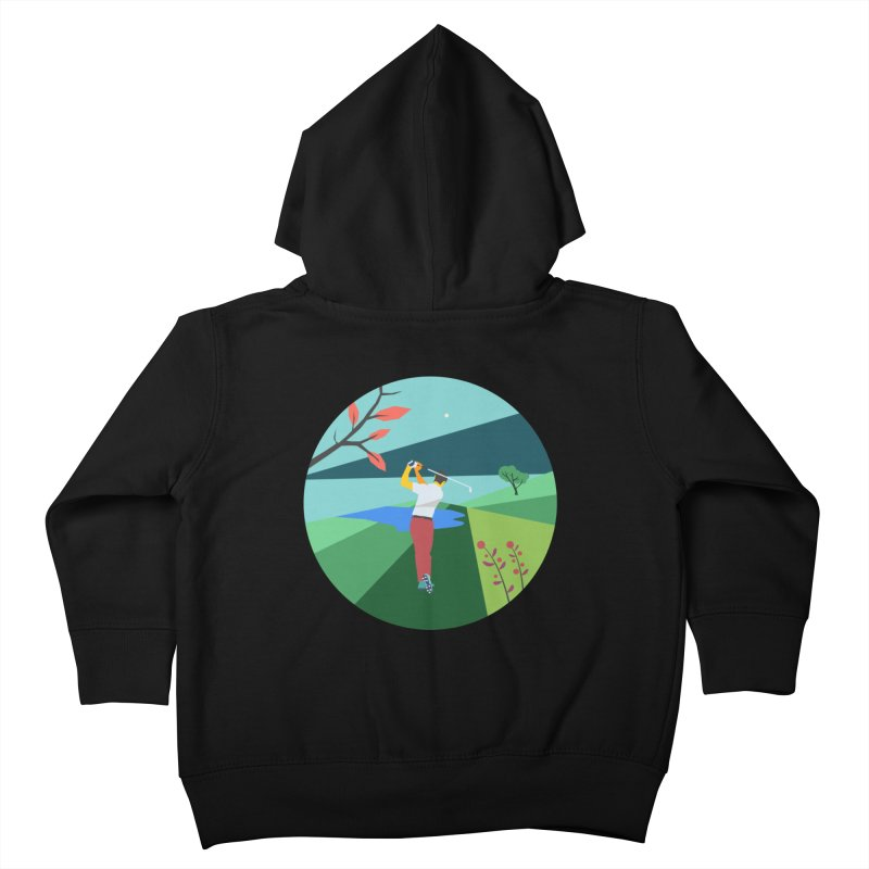 Golf Kids Toddler Zip-Up Hoody by INK. ALPINA