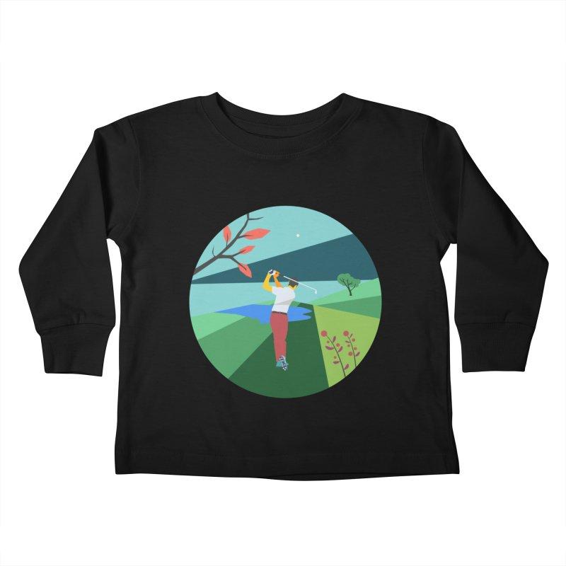 Golf Kids Toddler Longsleeve T-Shirt by · STUDI X-LEE ·