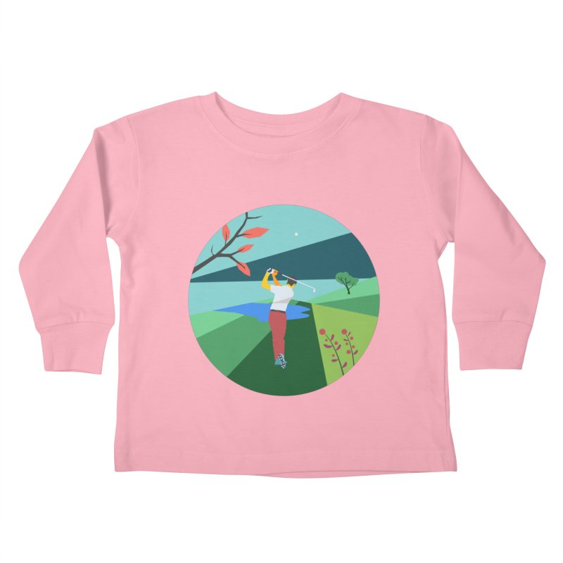 Golf Kids Toddler Longsleeve T-Shirt by INK. ALPINA