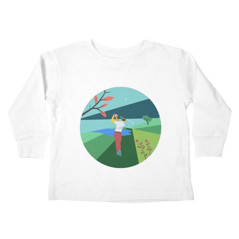 Golf Kids Toddler Longsleeve T-Shirt by · STUDI X-LEE ·