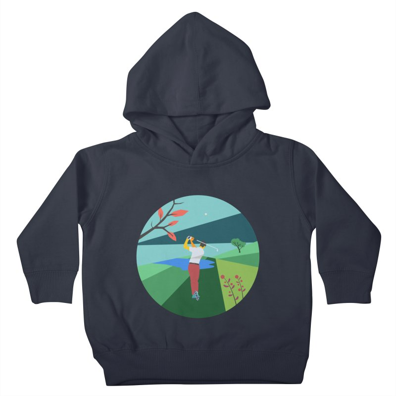 Golf Kids Toddler Pullover Hoody by INK. ALPINA