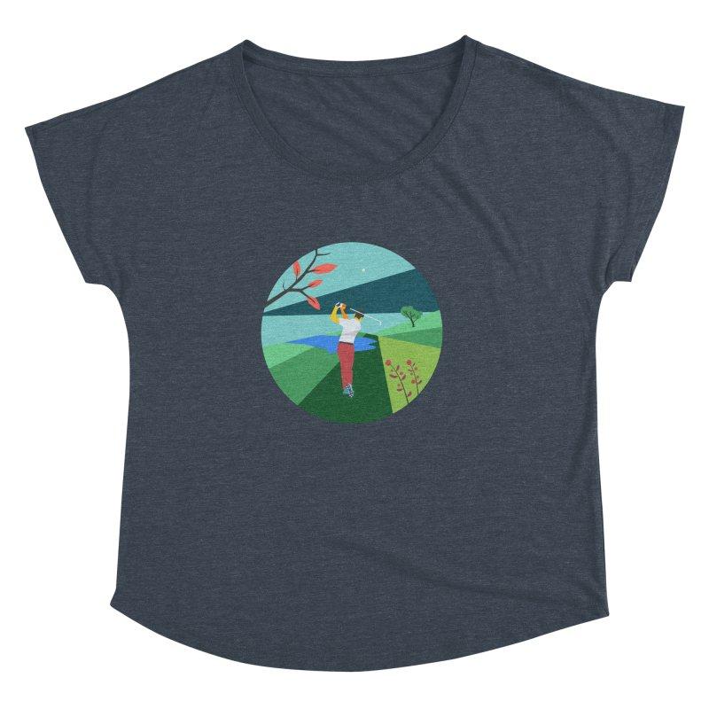 Golf Women's Dolman Scoop Neck by INK. ALPINA