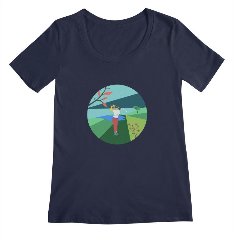 Golf Women's Regular Scoop Neck by INK. ALPINA
