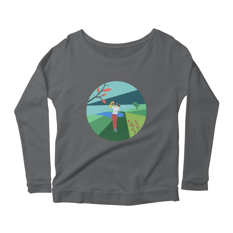 Golf Women's Scoop Neck Longsleeve T-Shirt by INK. ALPINA