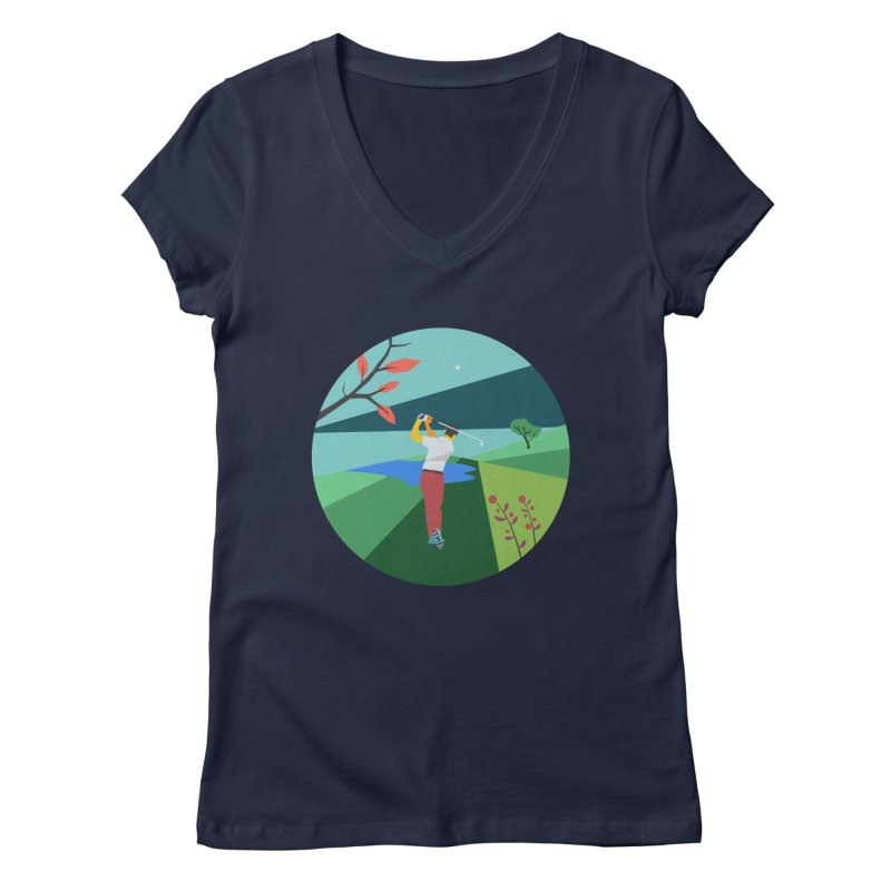 Golf Women's Regular V-Neck by · STUDI X-LEE ·