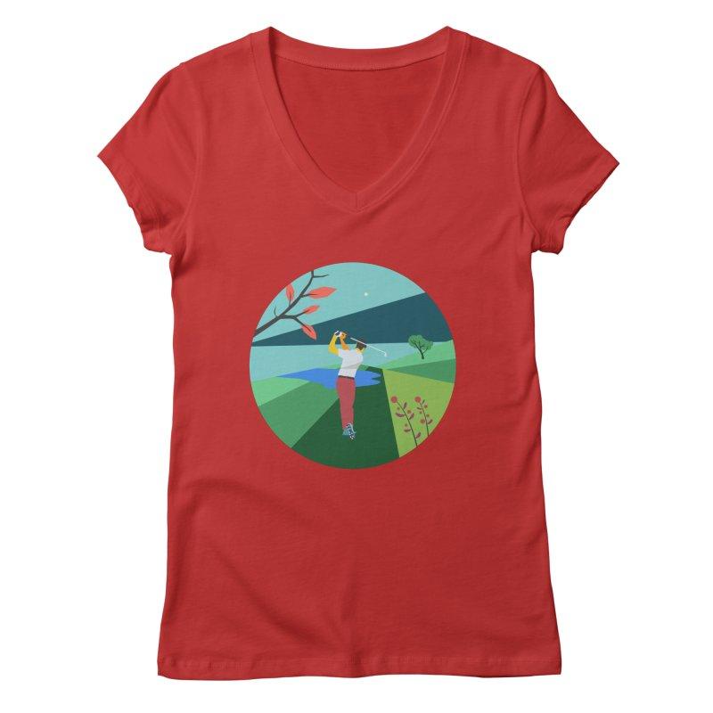Golf Women's Regular V-Neck by INK. ALPINA