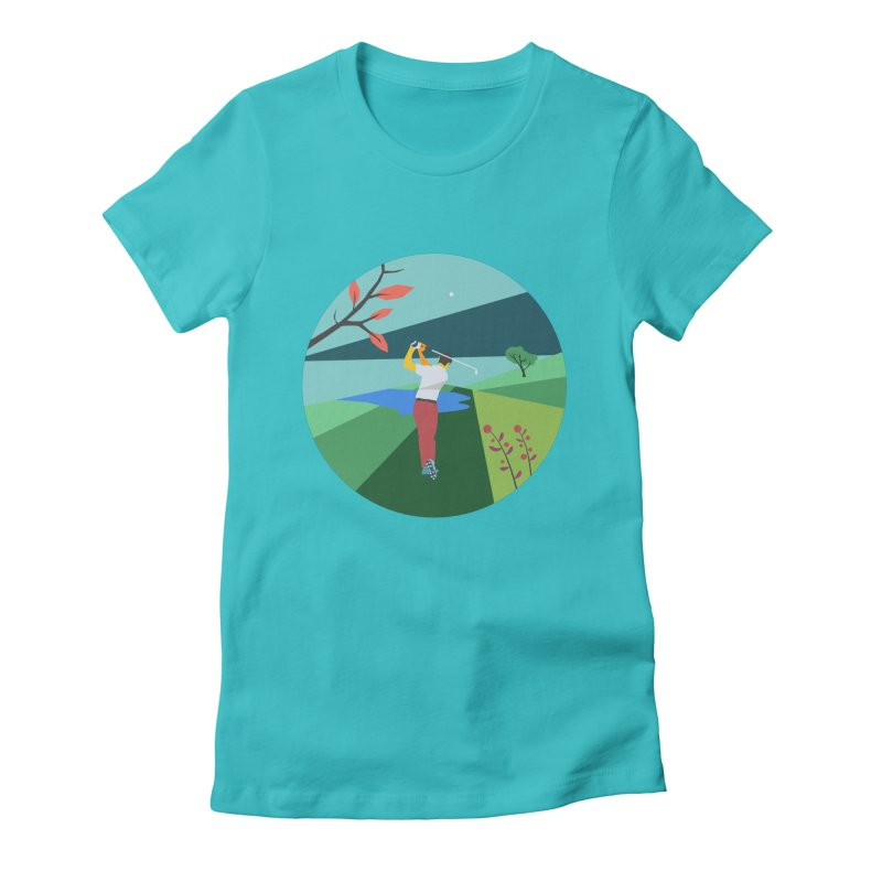 Golf Women's Fitted T-Shirt by · STUDI X-LEE ·