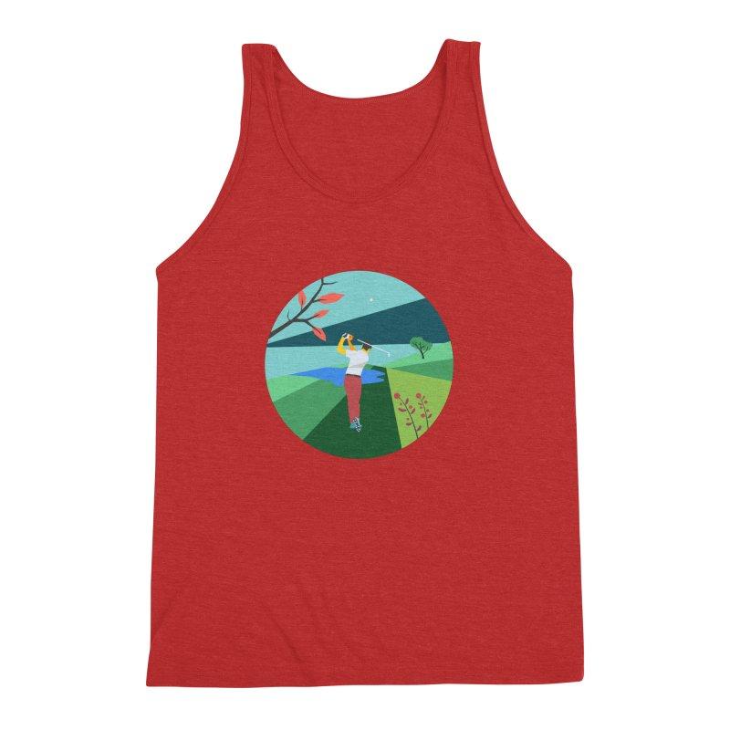 Golf Men's Triblend Tank by INK. ALPINA