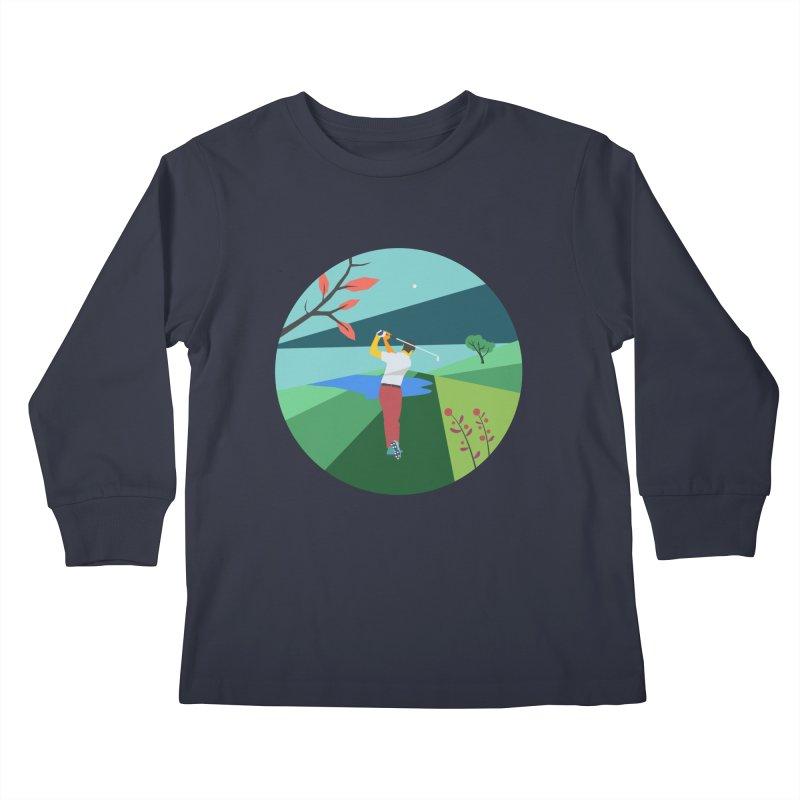 Golf Kids Longsleeve T-Shirt by · STUDI X-LEE ·