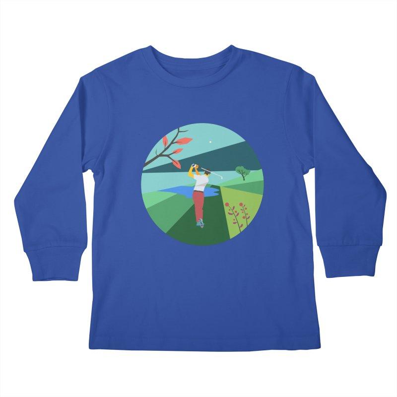 Golf Kids Longsleeve T-Shirt by INK. ALPINA