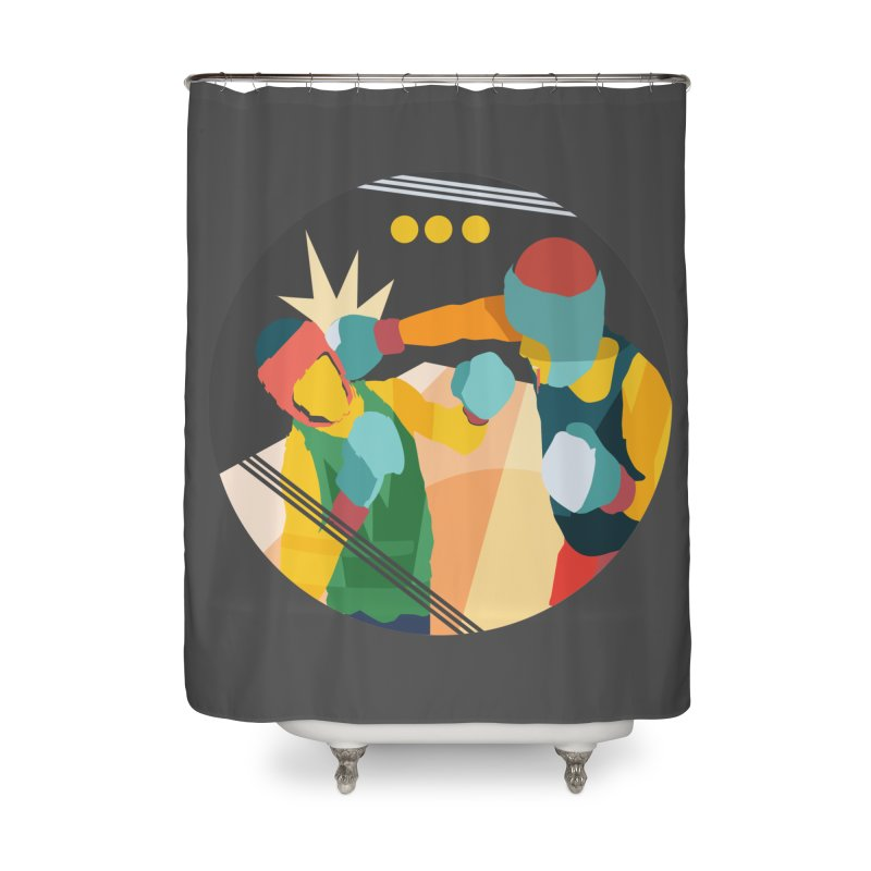 Boxing Home Shower Curtain by INK. ALPINA