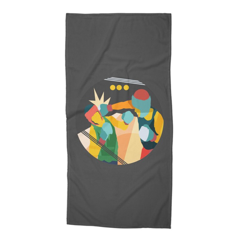 Boxing Accessories Beach Towel by · STUDI X-LEE ·