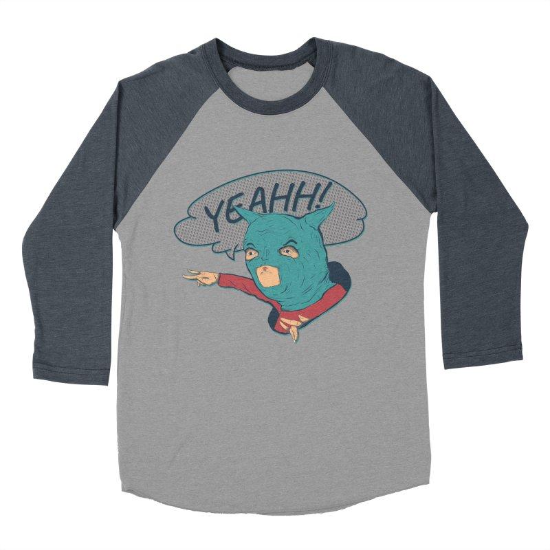 Super Hero Women's Baseball Triblend Longsleeve T-Shirt by · STUDI X-LEE ·