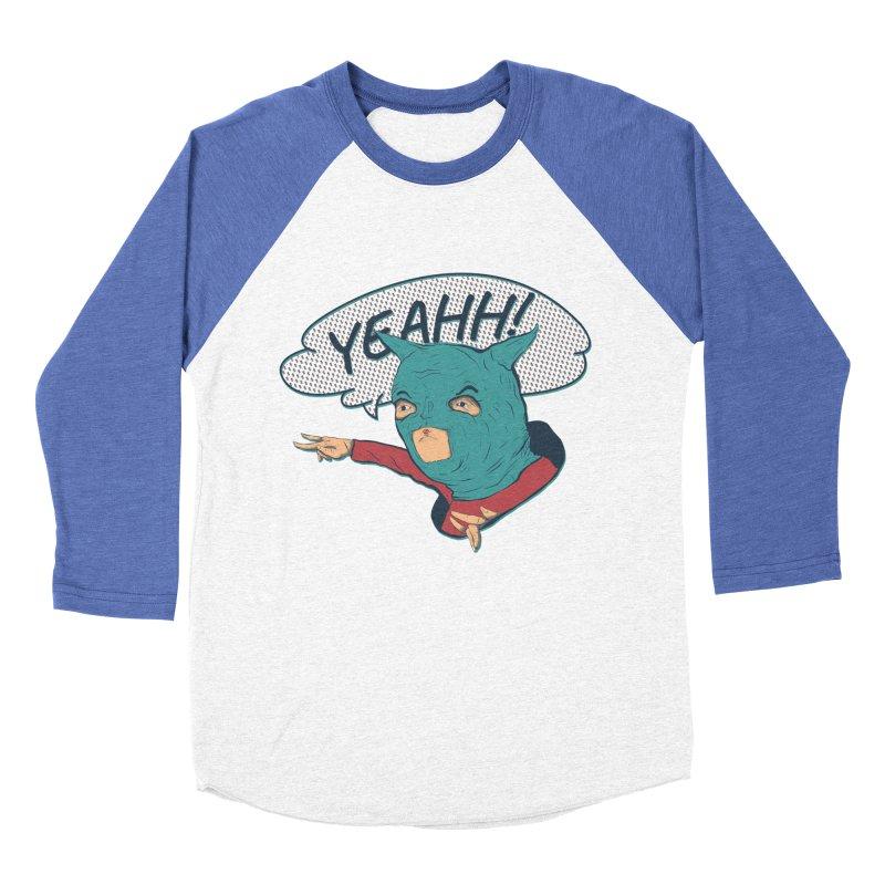 Super Hero Men's Baseball Triblend Longsleeve T-Shirt by INK. ALPINA