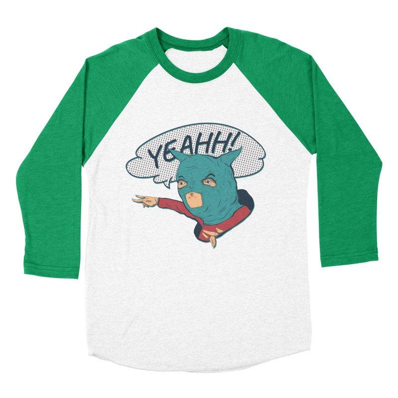 Super Hero Men's Baseball Triblend Longsleeve T-Shirt by · STUDI X-LEE ·