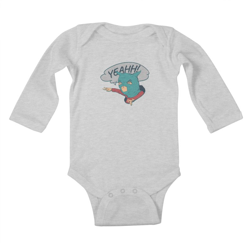Super Hero Kids Baby Longsleeve Bodysuit by INK. ALPINA