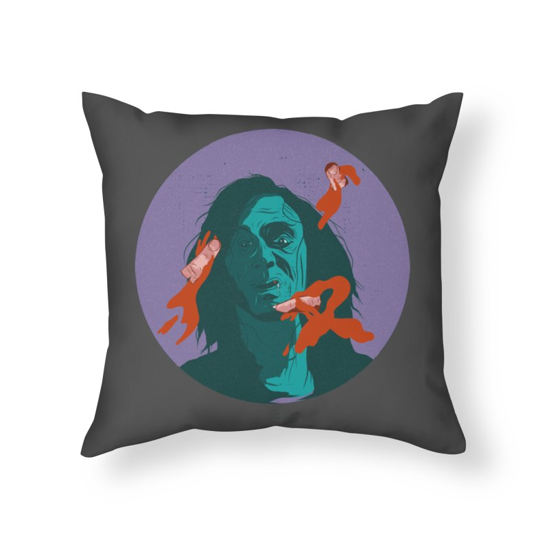 Dracula New Home Throw Pillow by INK. ALPINA