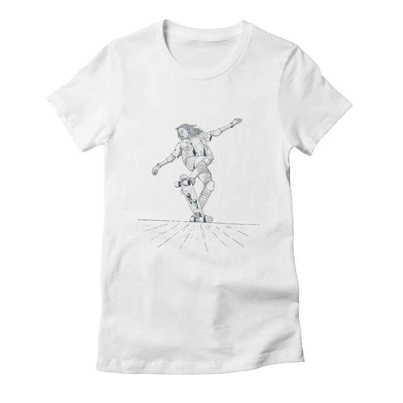 Skater BN Women's Fitted T-Shirt by · STUDI X-LEE ·